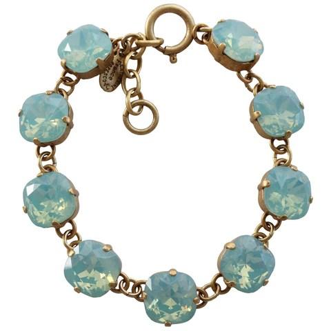 Catherine Popesco 14k Gold Plated Crystal Round Bracelet