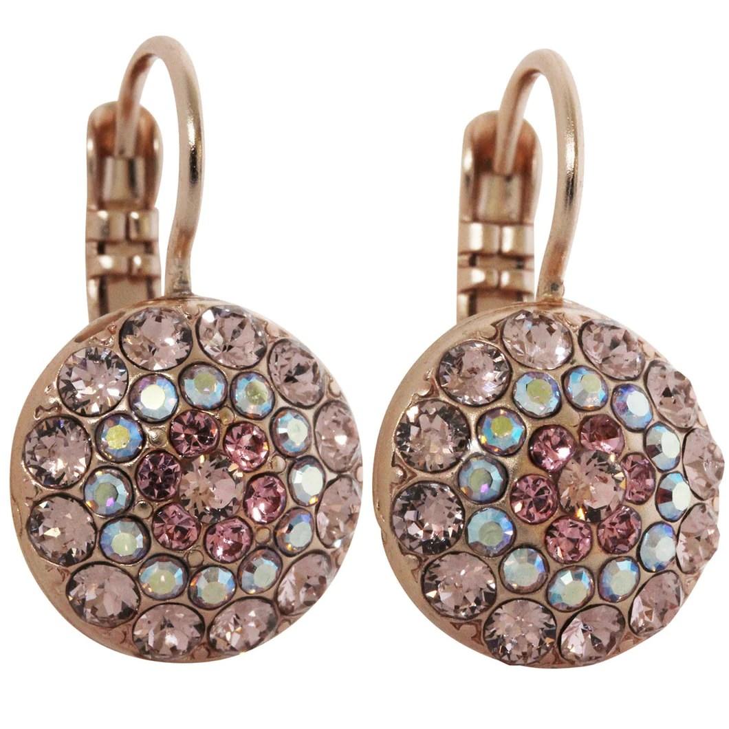 Mariana Rose Gold Plated Moondust Round Swarovski Crystal