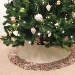 Hessian Christmas Tree Skirt With Rose Gold Sequin Trim The Sweet Hostess Ltd