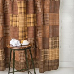 Swag Curtains For Kitchen Outdoor Ideas On A Budget Prescott Shower Curtain – Primitive Star Quilt Shop