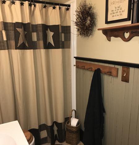 primitive star shower curtain