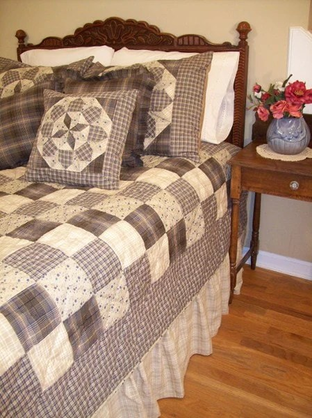 Clementine Handcrafted Quilt Set  Retro Barn Country Linens