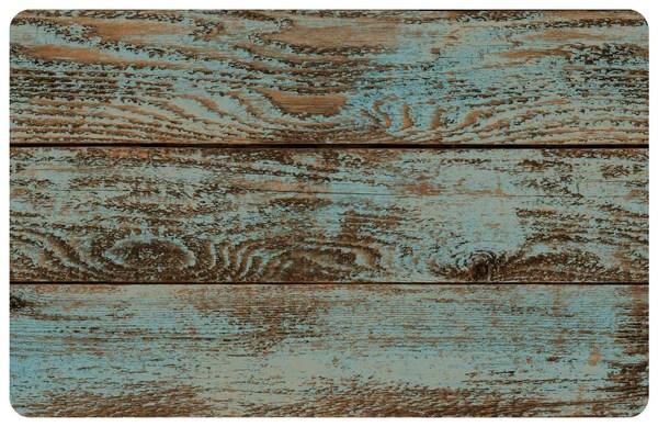 Dark Painted Floor Faux Wood Rug  Retro Barn Country Linens