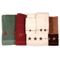 Red Kitchen Table Set Upgrade Cost Embroidered Star Bath Towel - Western Style Decor ...