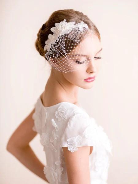 mini birdcage veil lace florentes