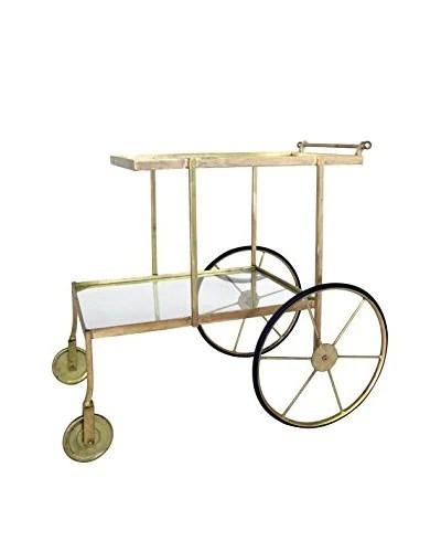 antique rolling bar cart