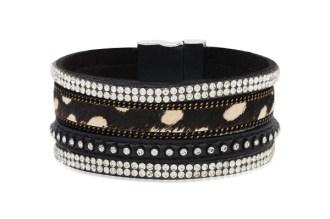 NEW!! Cougar Faux Suede Cuff Bracelet