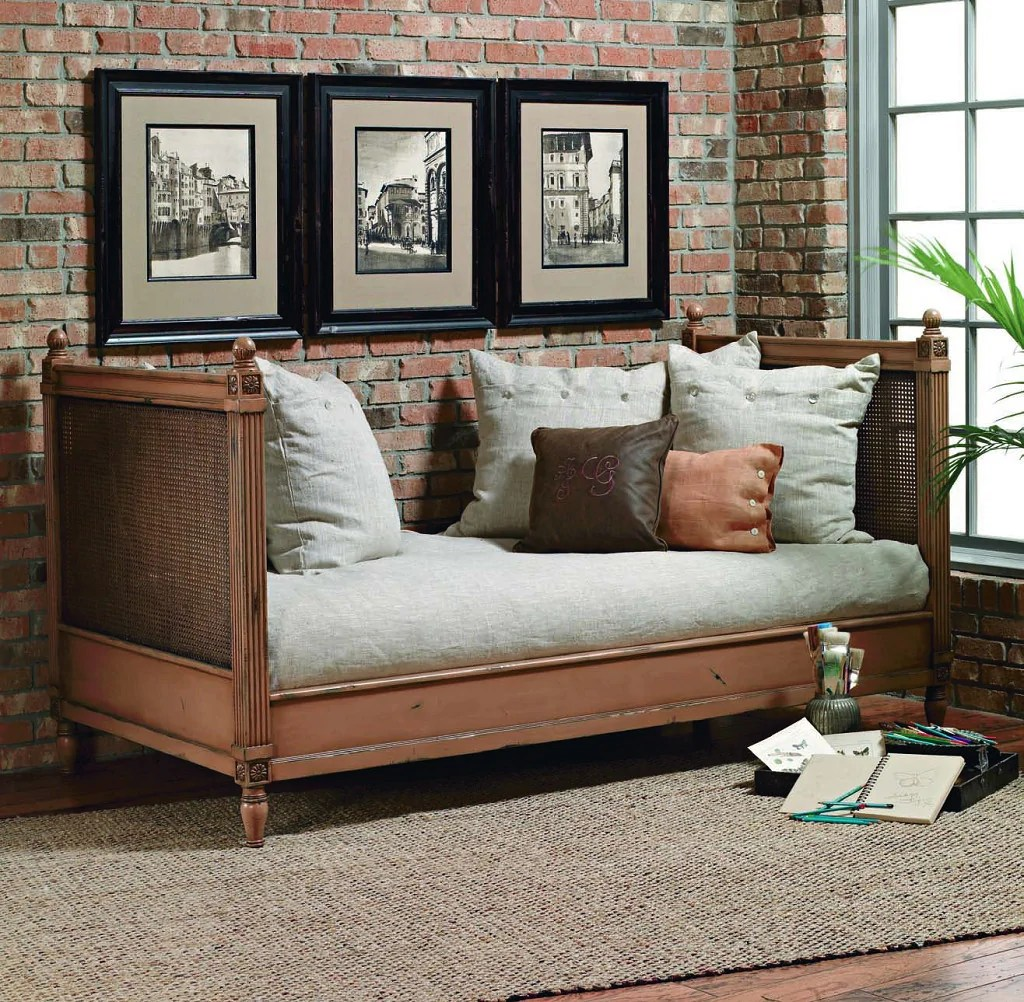 Biscayne Margeaux Wood Daybed With Cane Custom