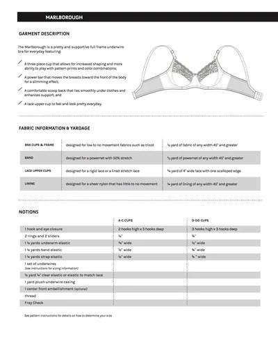 Bra Patterns Free Download : patterns, download, Marlborough, Instant, Download, Sewing, Pattern, Orange, Lingerie