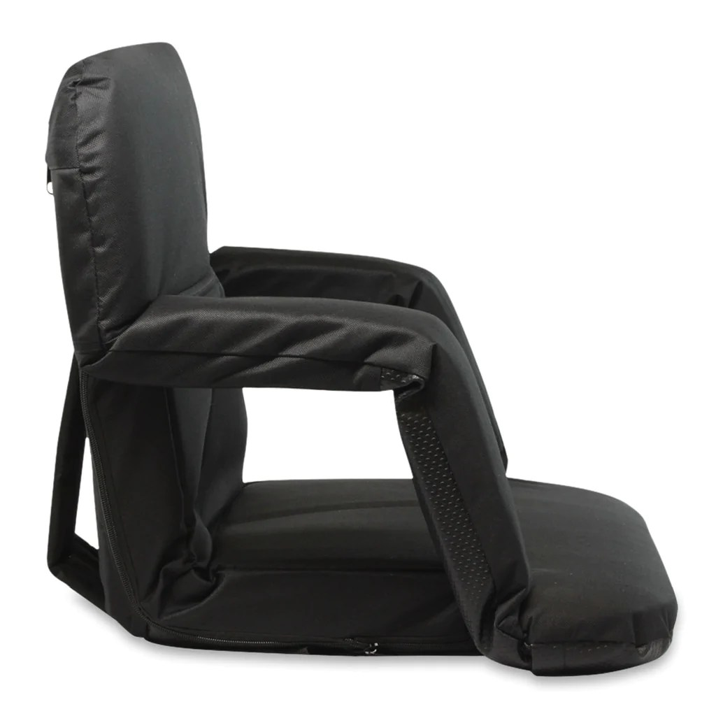 Stadium Bleacher Seat Bench Chair with Padded Reclining