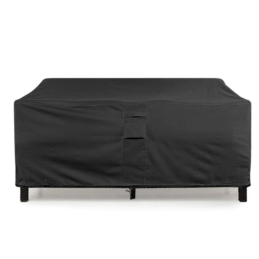 Love-seat Cover Lounge Waterproof Outdoor Sofa Patio Black