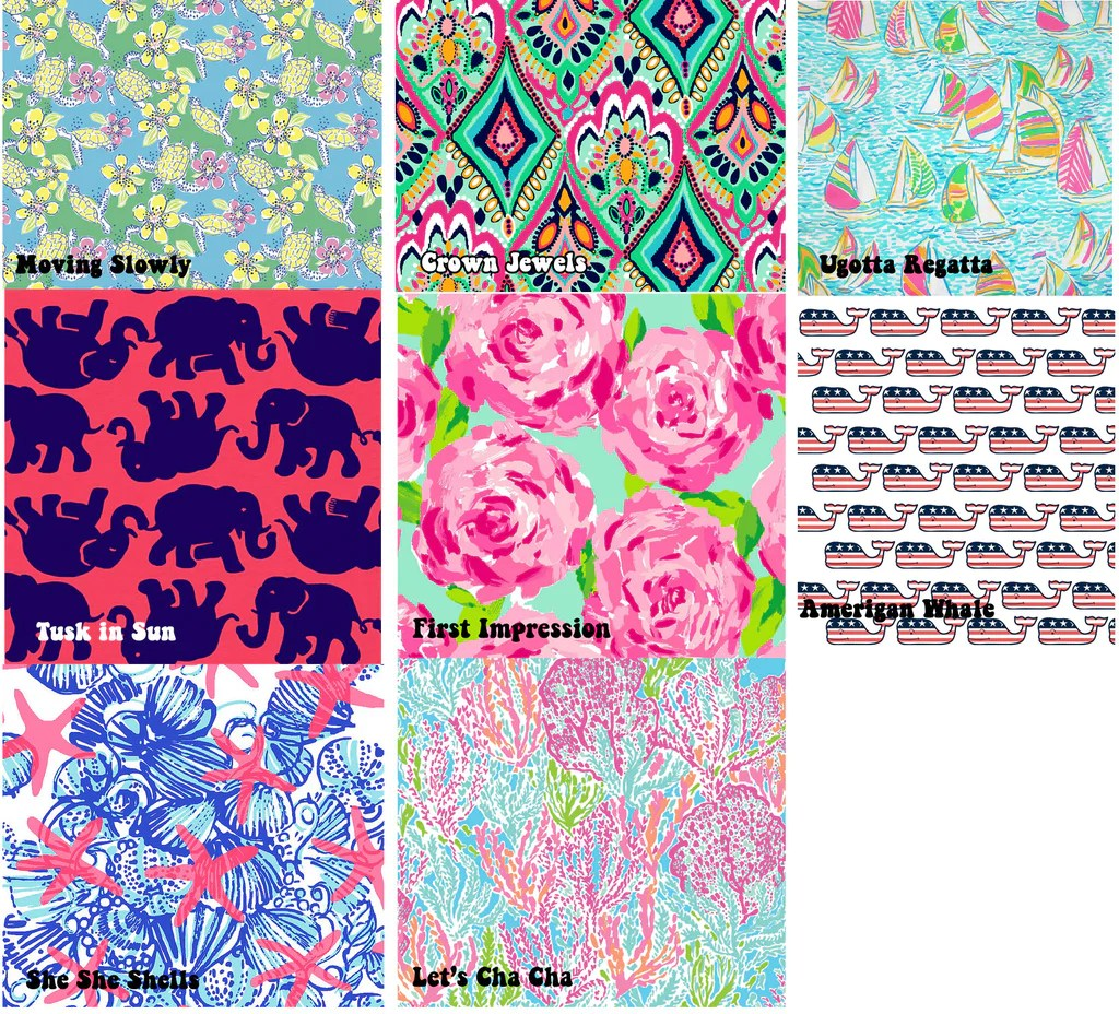 lilly pulitzer monogram decal