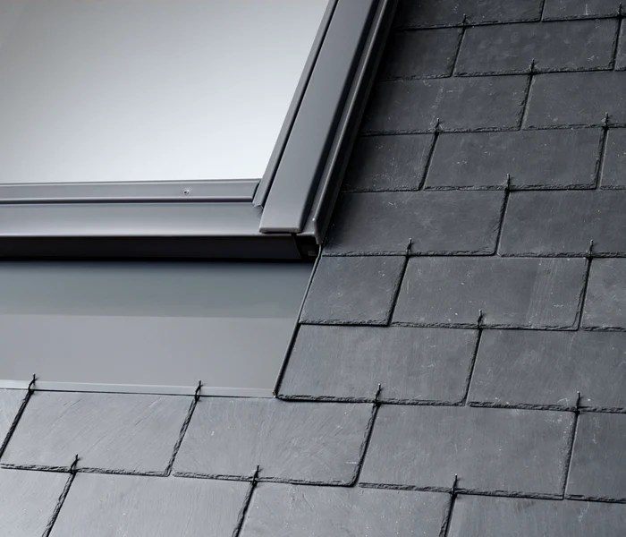 velux edn 0000 flashings recessed installation in slate up to 8mm thick