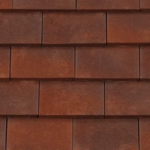redland rosemary clay plain roof tile heather brindle