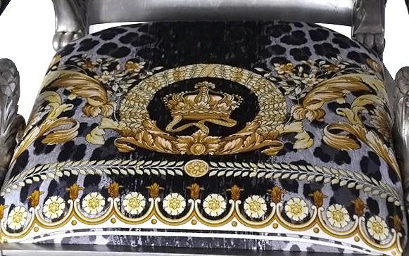 Luxury Custom Armchair Covered In Versace Vanity Wild