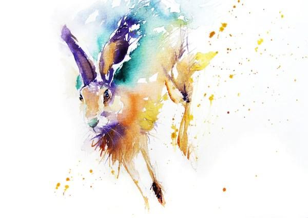 Fall Hedgehog Wallpaper Jen Buckley Art Signed Print Of My Original Running Hare