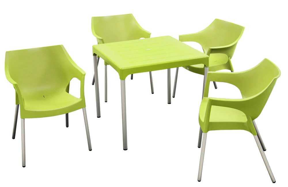 lime green bistro chairs faux leather dining che001 - chelsea table (square 4 seater) – moolla furniture corp cc