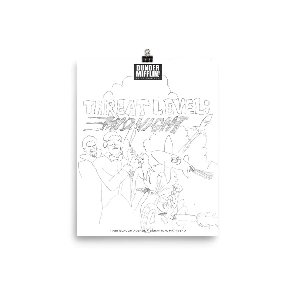 threat level midnight sketch print the office