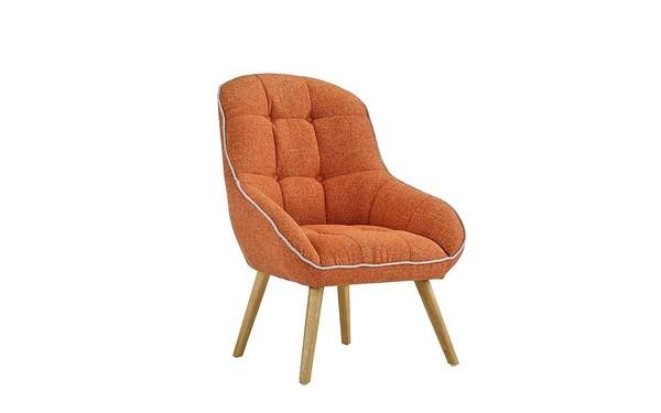 orange upholstered chair antique oak desk wheels new century linen accent bargain area rugs