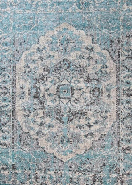 Royalty Blue Distressed Persian Oriental Rug Clearance