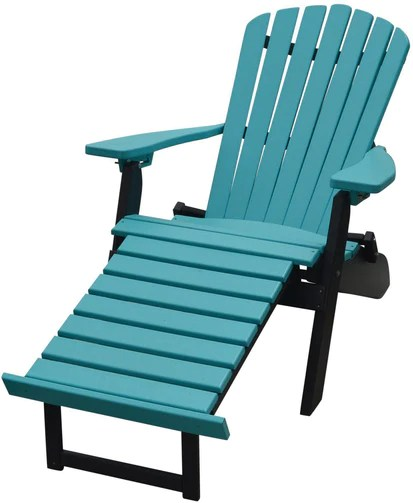 a l furniture co folding reclining recycled plastic adirondack chair w pullout ottoman lead time to ship 3 weeks