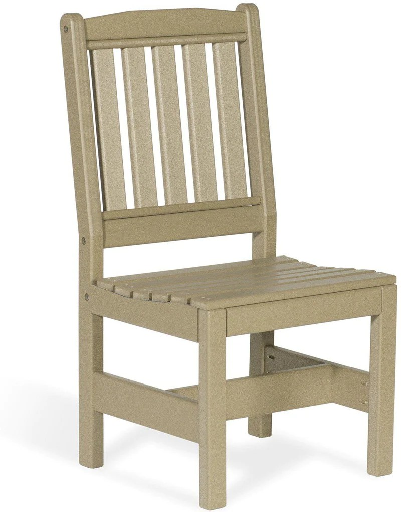 Leisure Lawns Poly Amish Garden Chair Arms Mode