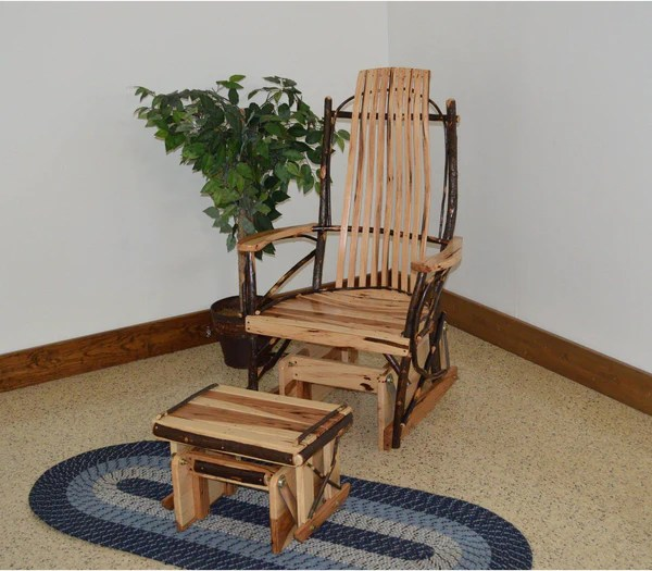 rocking chair footrest baby 3 months outdoor patio gliders glider porch furniture amish bentwood hickory rocker with ottoman set ships