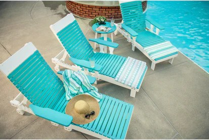 cheap plastic lounge chairs chair cover hire harrogate luxcraft outdoor recycled model rocking furniture