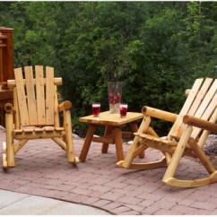 Cedar Rocking Chairs Office Chair Too High Moon Valley Rustic Outdoor And End Table Furniture