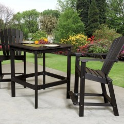 Chaise Lounge Chairs For Outdoors Commercial Tables And Wildridge® Poly Furniture Classic High Table Set - Outdoorsrockingchair.com