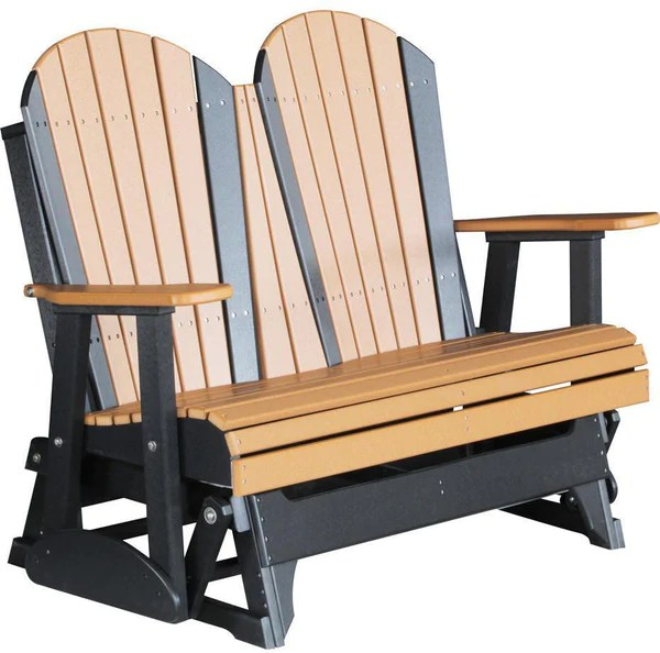 highwood adirondack chair carlo di carli chairs luxcraft recycled plastic 4' glider - outdoorsrockingchair.com