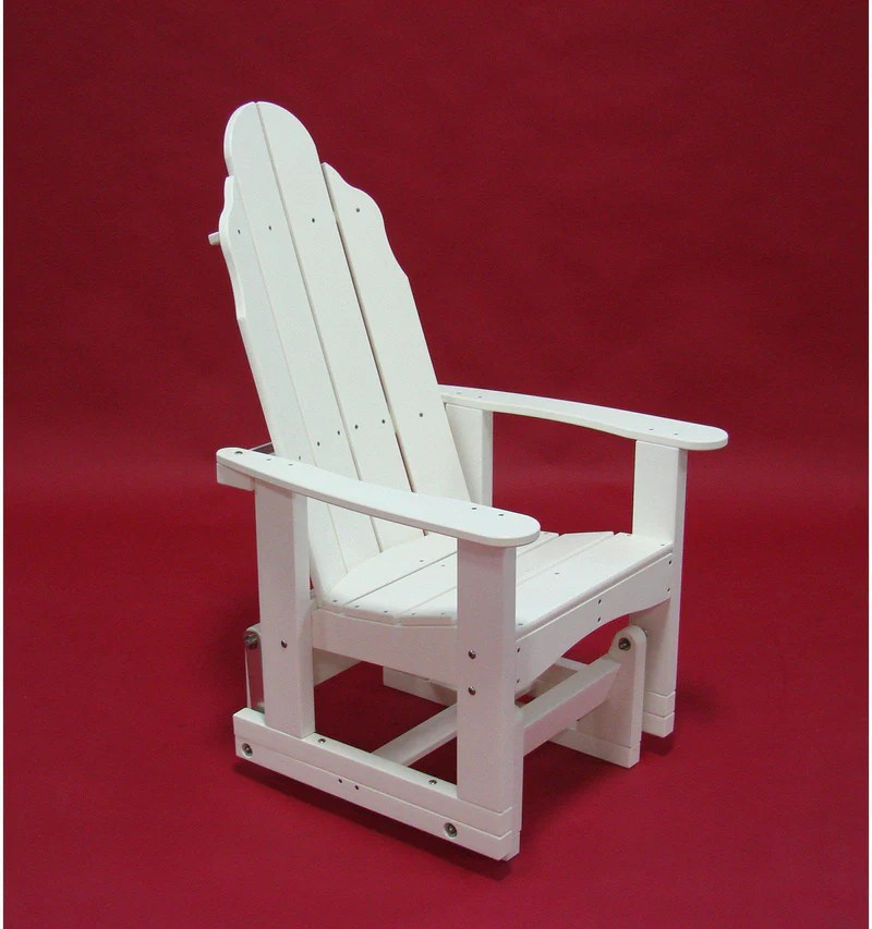Tailwind Recycled Plastic Traditional Adirondack Glider