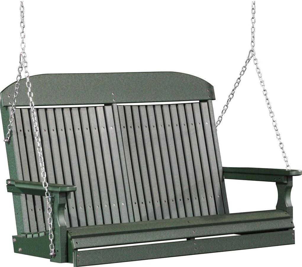 Luxcraft Classic 4ft. Recycled Plastic Porch Swing