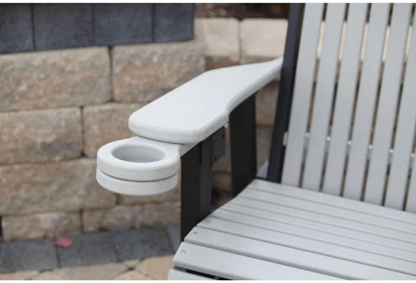 LuxCraft Recycled Plastic Glider Chair Cup Holder