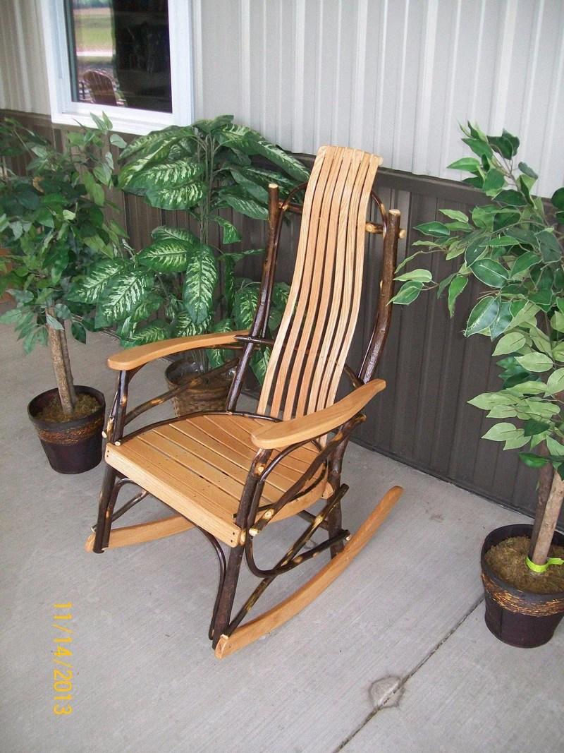AL Hickory Rocker  Amish Bentwood Rocking Chair