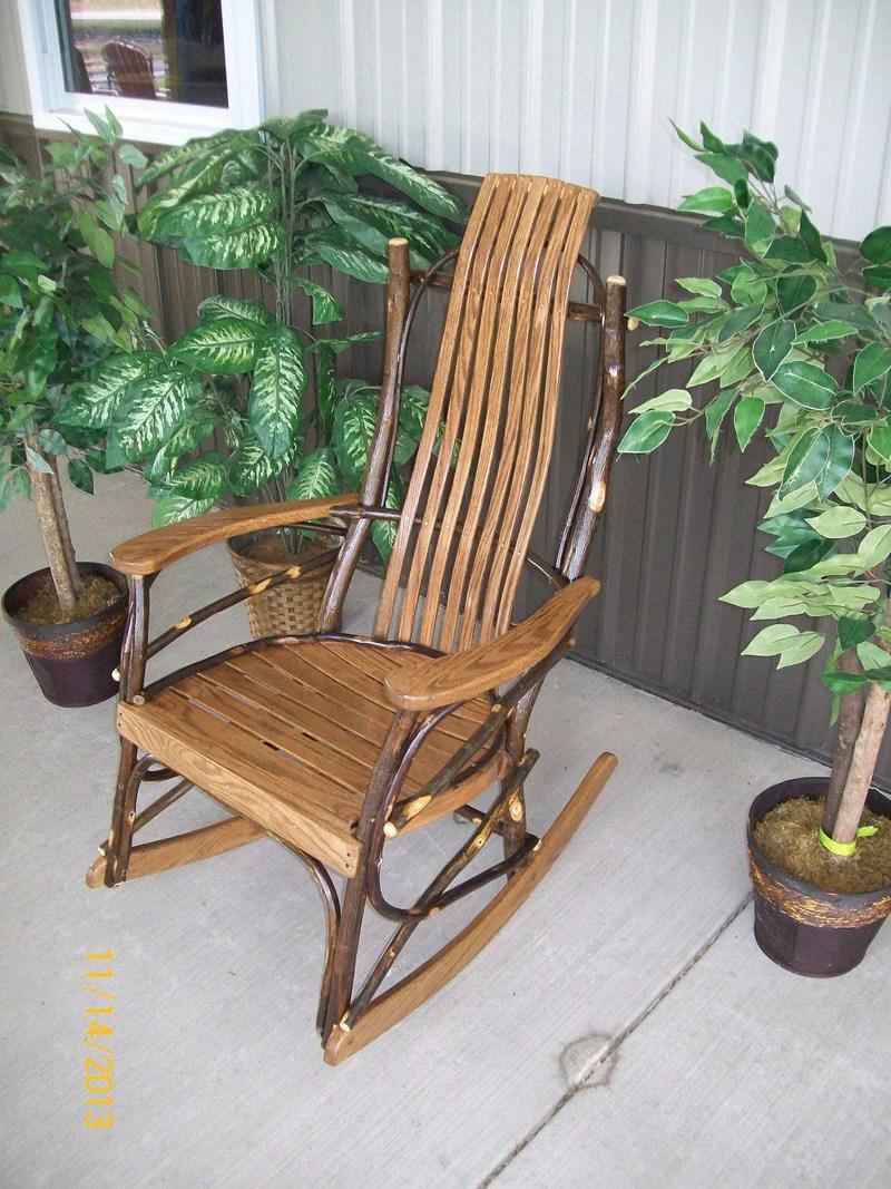 & L Furniture . Amish Bentwood 7-slat Hickory Rocking