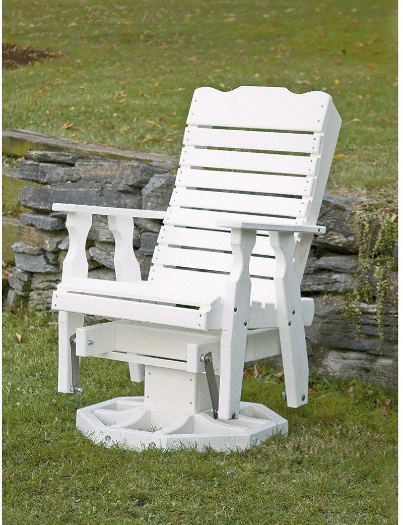 Leisure Lawns Poly Amish Curve- Swivel Glider