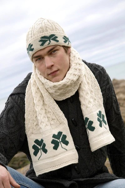 Mens Celtic Wool Scarf  Aran Sweaters Direct