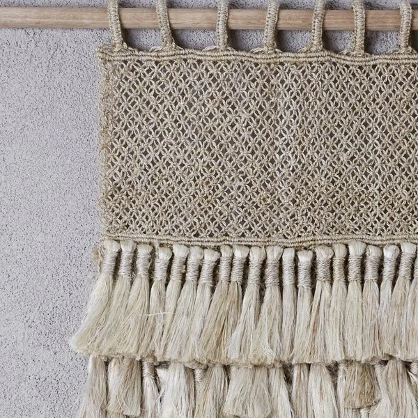 Jute Wall Hanging Tassels Handmade Fair Trade
