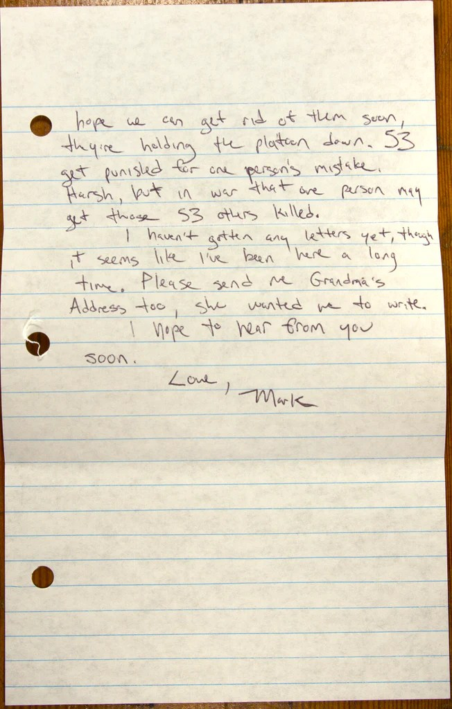 Letter Three Letters From USMC Recruit Training Marine