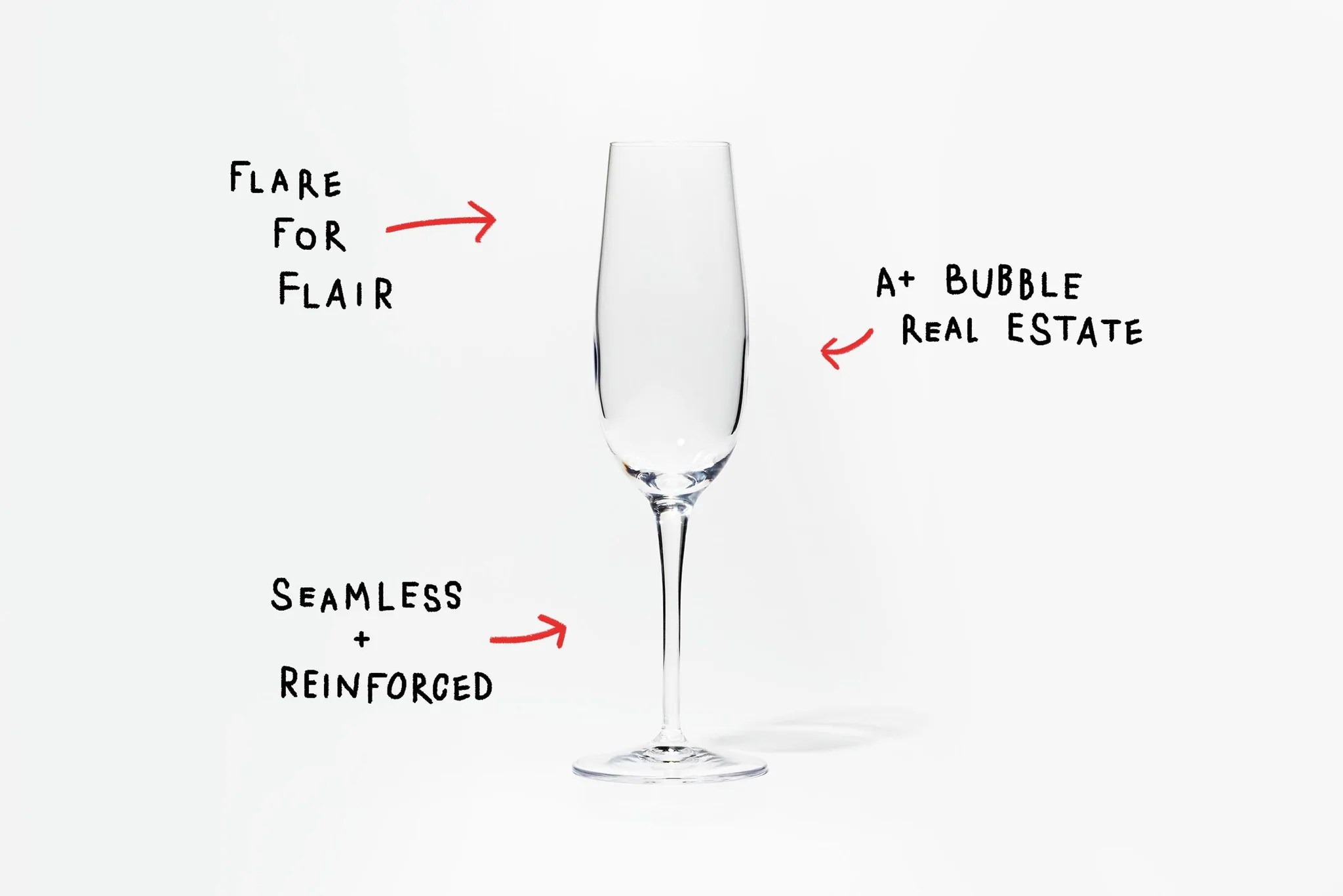 medium resolution of up top we ve got a limited surface area and a slightly tapered opening the better for keeping things bubbly and bright and since we re never ones for