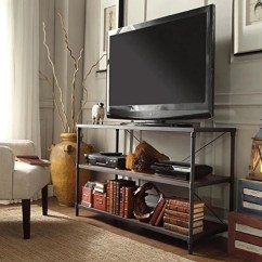 Living Room Media Furniture French Provincial Rooms Modern Industrial Rustic Brown 3 Shelves Rectangle Shaped Tv Stand Med Modhaus