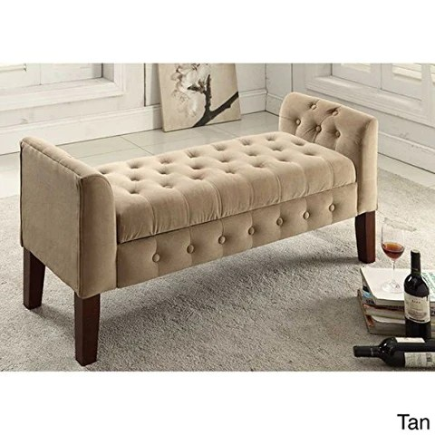 living room furniture with storage bench ideas tan button tufted ottoman brown modhaus