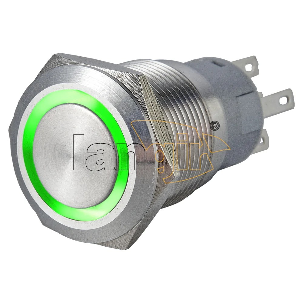 19mm ring illuminated 1no1nc stainless steel anti vandal switch  [ 1000 x 1000 Pixel ]