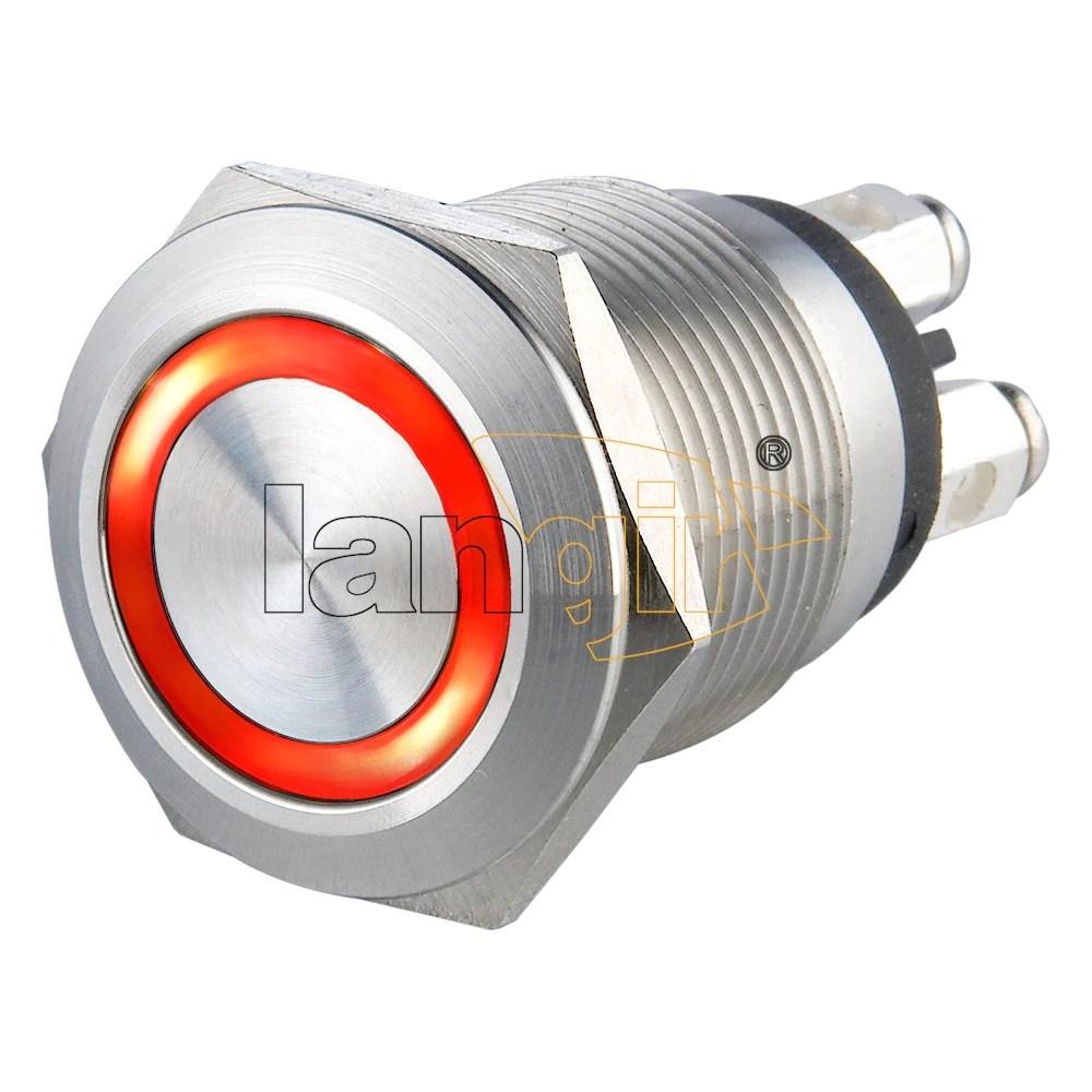 medium resolution of  19mm 1no momentary short stroke 0 5a 24vdc screw terminal illuminated anti vandal switch