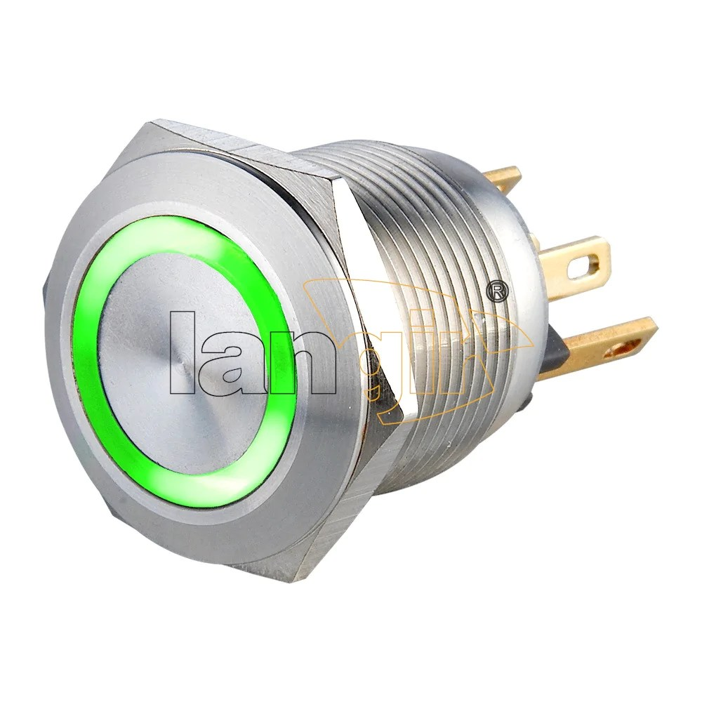 19mm 1no momentary short stroke 0 5a 24vdc pin terminal illuminated anti vandal switch  [ 1000 x 1000 Pixel ]