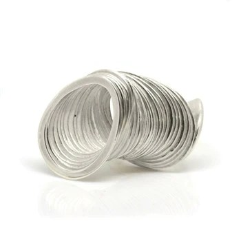 Curve Layered Silver Ring
