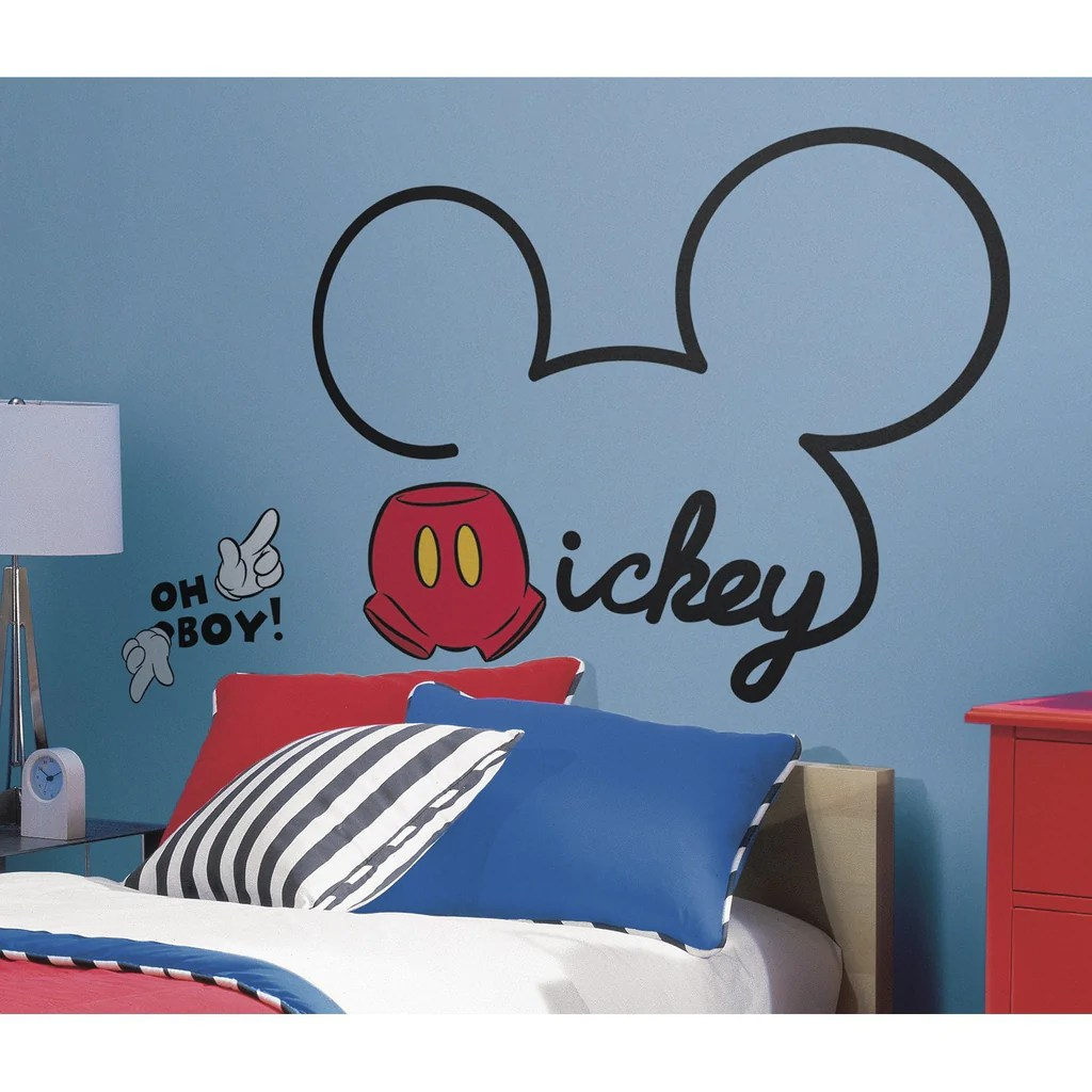 mickey mouse ears wall decal fun rooms for kids