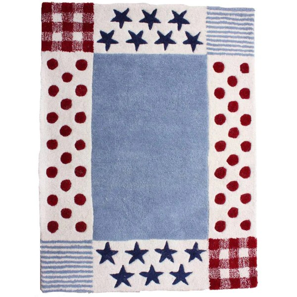 Boys Blue Amp Red Star And Polka Dot Rug Fun Rooms For Kids