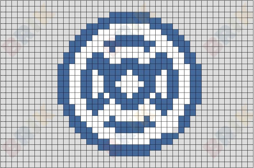 blue lantern pixel art